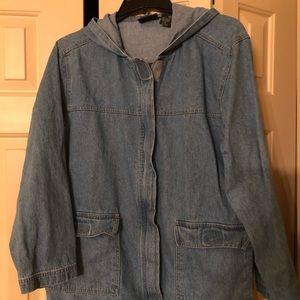 Jackets & Blazers - Denim jacket with hood